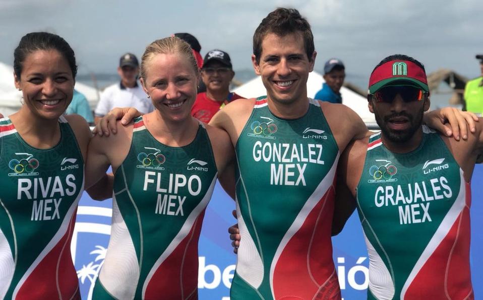 México gana oro en triatlón de relevo mixto en Barranquilla 2018