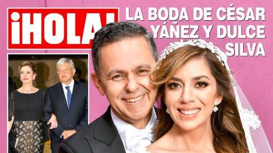 La boda de César Yáñez llega a la portada de la revista ¡Hola!