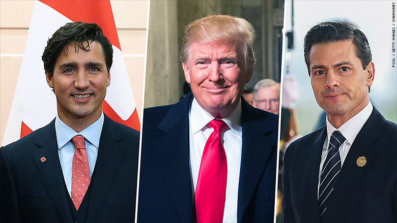 Peña, Trudeau y Trump elogian acuerdo comercial alcanzado entre EU, México y Canadá