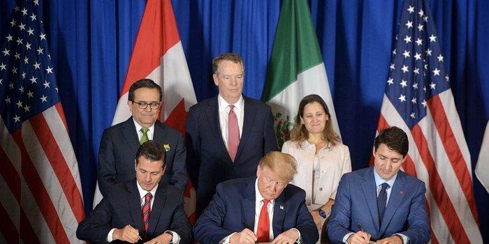 ¡Adiós TLCAN! México, EU y Canadá firman el T-MEC