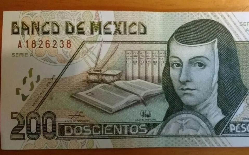 ¿Lo tienes? Billete 'viejito' de 200 pesos de Sor Juana se vende en 2 mil pesos